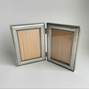 Antiquated Brushed Metal Hinged Picture Frame
